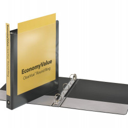 "BINDER VIEW COVER  1"" Economy ClearVue™  BLACK"