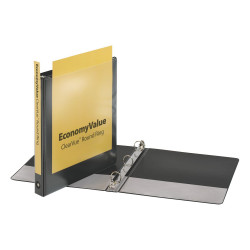 """BINDER VIEW COVER  1"""" Economy ClearVue™  BLACK"""