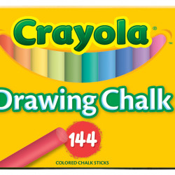 CHALK COLORED FOR PAPER CRAYOLA #51-0400 144CT ASST'D