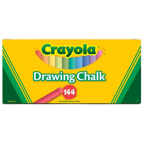 CHALK ASSORTED COLORS 144CT