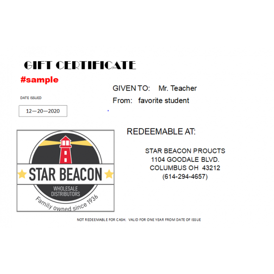 Star Beacon Gift Certificate - $100