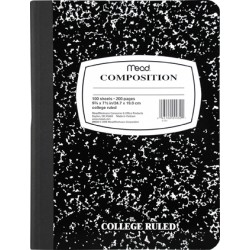 COMPOSITION BOOK MARBLE COVER COLLEGE RULED 100 ct