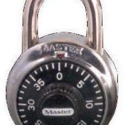 LOCK MASTER COMBINATION BLACK #1500 D