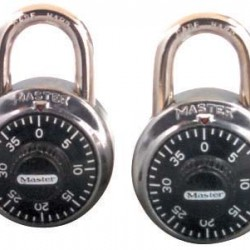 LOCK MASTER COMBINATION TWIN PK SAME COMBO BLACK  #1500 T