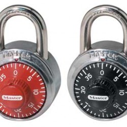 LOCK MASTER COMBINATION SINGLE BLACK, BLUE, RED, PURPLE  #1505 D