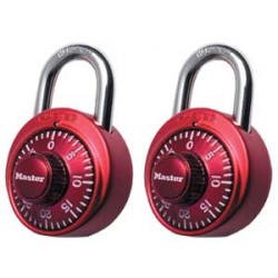 LOCK MASTER COMBINATION TWIN PACK SAME COMBO COLOR  #1530 T