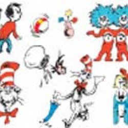 DECO KIT 2 SIDED DR SUESS CAT IN THE HAT EUREKA
