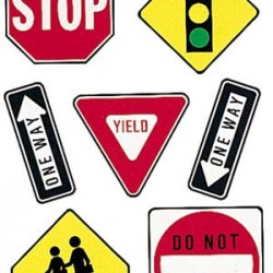 DECO KIT 2 SIDED TRAFFIC SYMBOLS EUREKA