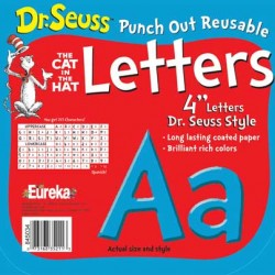 "LETTERS 4"" PUNCH-OUT DR. SEUSS BLUE EUREKA"