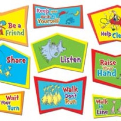 BULLETIN BOARD SET DR. SEUSS - CLASSROOM RULES EUREKA