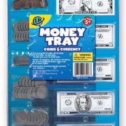 MANIPULATIVES PLAY MONEY TRAY COINS & CASH LEARNING PLAYGROU