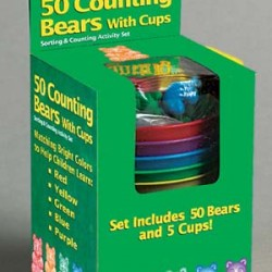 MANIPULATIVES COUNTING BEARS W/CUPS 50ct EUREKA