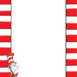 COMPUTER PAPER 50 ct DR. SUESS CAT IN THE HAT EUREKA