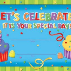 RECOGNITION AWARDS 36 ct LET'S CELEBRATE YOUR SPECIAL DAY EUREKA