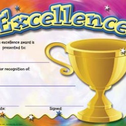 RECOGNITION AWARDS 36ct EXCELLENCE EUREKA
