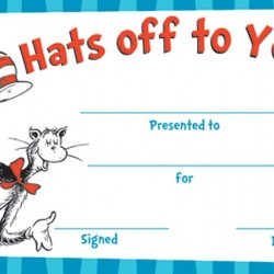 RECOGNITION AWARDS 36 ct  CAT IN THE HAT™ HATS OFF EUREKA