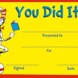 RECOGNITION AWARDS 36 ct  CAT IN THE HAT™ YOU DID IT! EUREKA