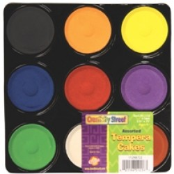 PAINT TEMPERA CAKES ASSORTMENT 9 ct