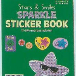 STICKER BOOK 268 ct STARS AND SMILES SPARKLE EUREKA