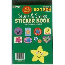 STICKER BOOK 536 (bonus 804ct)STARS AND SMILES EUREKA