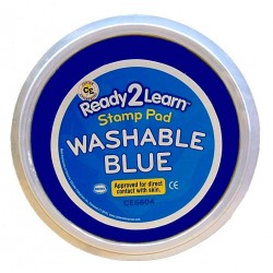 "STAMP PAD WASHABLE JUMBO 6"" CIRCULAR CE6604 BLUE"