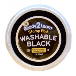 "STAMP PAD WASHABLE JUMBO 6"" CIRCULAR CE6606 BLACK"