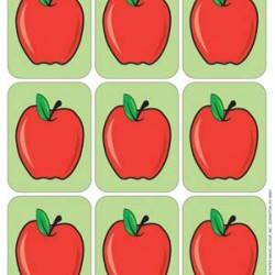STICKERS GIANT 36 CT APPLES EUREKA