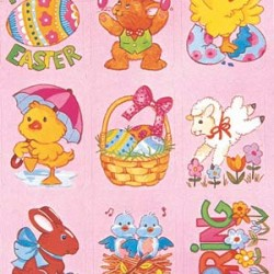 STICKERS GIANT 36 CT EASTER EUREKA