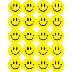 STICKERS SCENTED SMILEY FACES 80 ct. LEMON EUREKA