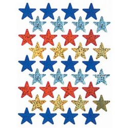 STICKERS SPARKLE STARS ASSORTED 72ct EUREKA