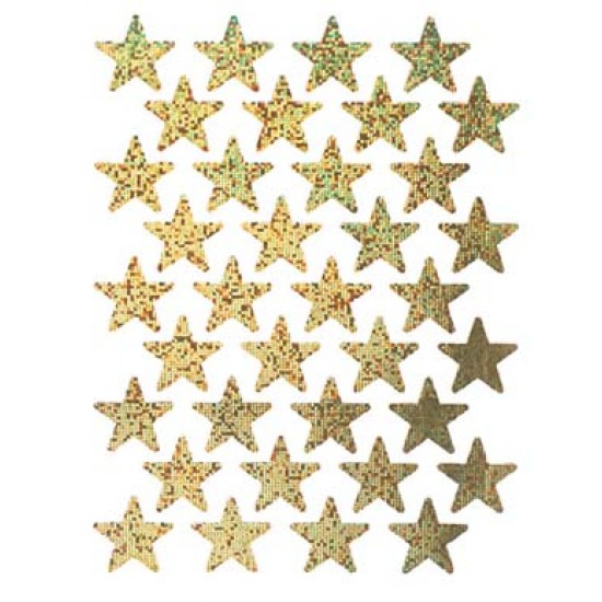 STICKERS SPARKLE STARS GOLD 72ct EUREKA