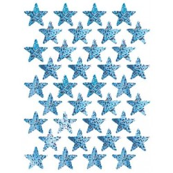 STICKERS SPARKLE STARS SILVER 72ct EUREKA