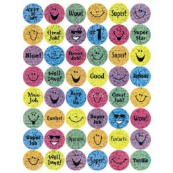 STICKERS SPARKLE SMILES 96ct EUREKA