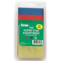 STARS SELF STICK   SUPER ASSORTMENT 750ct EUREKA