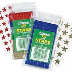 "STARS SELF STICK     1/2""   250's BLUE EUREKA"