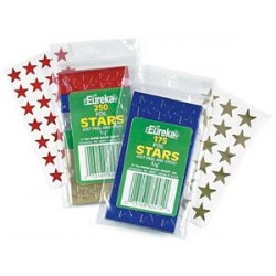"STARS SELF STICK 1/2"" 250's ASSORTED COLORS EUREKA"