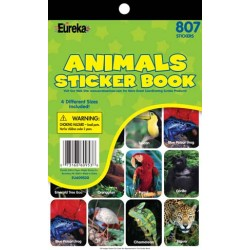 STICKER BOOK 807 ct ANIMALS EUREKA