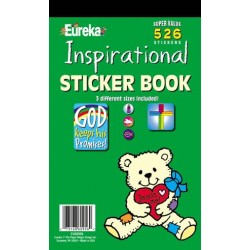 STICKER BOOK 526 ct INSPIRATIONAL EUREKA