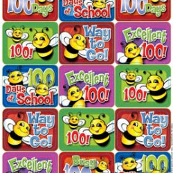 STICKERS - THEME BUSY BEE 100 DAYS
