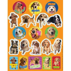 STICKERS THEMATIC 120 ct MOTIVATIONAL DOG EUREKA