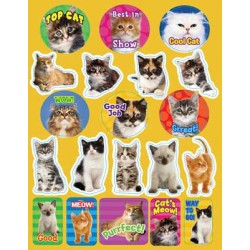 STICKERS THEMATIC 120 ct MOTIVATIONAL CATS EUREKA