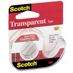 "TAPE TRANSPARENT SCOTCH 1/2"" X 500"" #144"