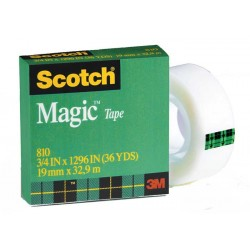 "TAPE SCOTCH MAGIC REFILL #810  3/4"" X 1296"" BOXED"