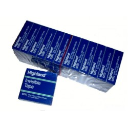 """TAPE HIGHLAND INVISIBLE BOXED REFILL 1/2 X 1296"""" #6200-1/2"""