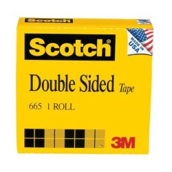 TAPE SCOTCH DOUBLE SIDED  1/2 in x 25 yd Boxed #665