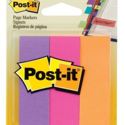 POST-IT PAGE MARKERS  7/8 X 2 7/8  3pk 50 ct  #5221