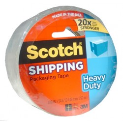 "TAPE SCOTCH SHIPPING HEAVY DUTY CLEAR #3850  1.88"" X 54.6 yds"