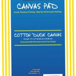 CANVAS PAD 10 PAGE W/ACID FREE SIZING SARGENT ART 9 x 12