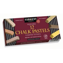 CHALK PASTELS SARGENT ART EARTH TONE SQUARES 12 ct