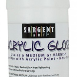 ACRYLIC GLOSS MEDIUM AND VARNISH SARGENT ART 16 OZ